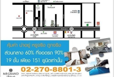 For Rent Condo 30 sqm Near BTS Saphan Khwai, Bangkok, Thailand