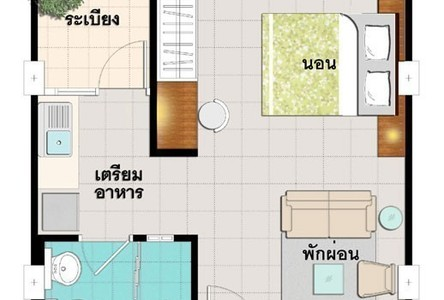 For Sale コンド 30 sqm in Lam Luk Ka, Pathum Thani, Thailand