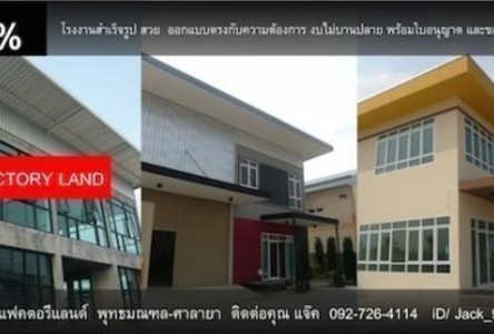 For Sale Warehouse 420 sqm in Phutthamonthon, Nakhon Pathom, Thailand