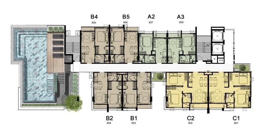 For Sale 2 Beds Condo in Phaya Thai, Bangkok, Thailand | Ref. TH-SVCWAWXU
