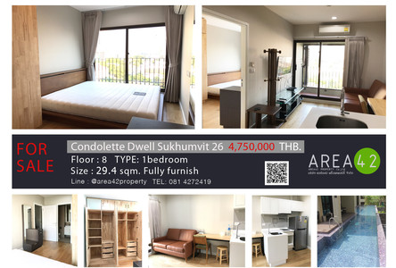 For Sale or Rent 1 Bed コンド Near BTS Phrom Phong, Bangkok, Thailand