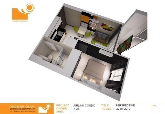 Airlink Residence - For Sale or Rent 1 Bed コンド in Lat Krabang, Bangkok, Thailand | Ref. TH-GXEDTRPA
