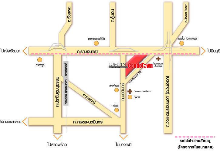 Lumpini Condo Town Ramintra - Nawamin - For Rent 1 Bed コンド in Khan Na Yao, Bangkok, Thailand | Ref. TH-GRXZREPC