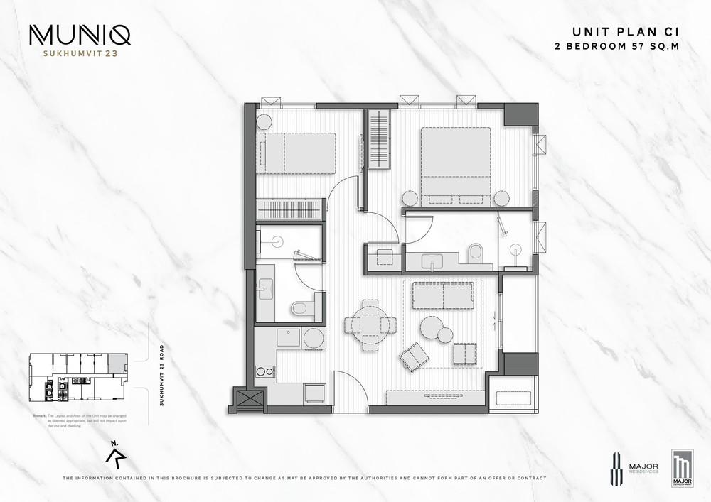 มิวนีค สุขุมวิท 23 - ขาย คอนโด 2 ห้องนอน ติด MRT สุขุมวิท | Ref. TH-MNWERQEV