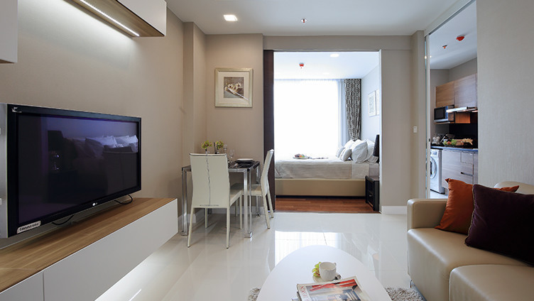 For Rent 1 Bed Condo in Mueang Samut Prakan, Samut Prakan, Thailand | Ref. TH-ROVORJCP
