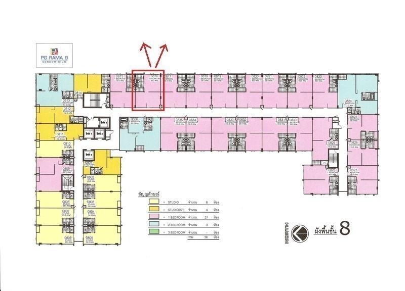 พีจี พระราม 9 - ให้เช่า คอนโด 1 ห้องนอน ติด MRT พระราม 9 | Ref. TH-TQOSMASU