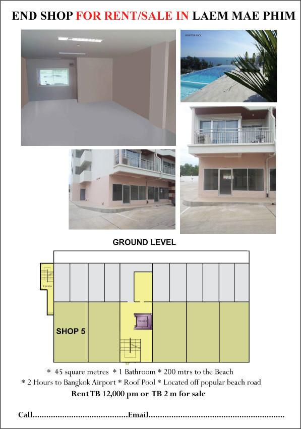 ให้เช่า พื้นที่ค้าปลีก 43 ตรม. บ้านค่าย ระยอง | Ref. TH-EZDCDPPE