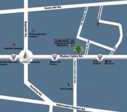 Siamese Ratchakru - For Sale or Rent 2 Beds コンド Near BTS Sanam Pao, Bangkok, Thailand   Ref. TH-BVARBAKU