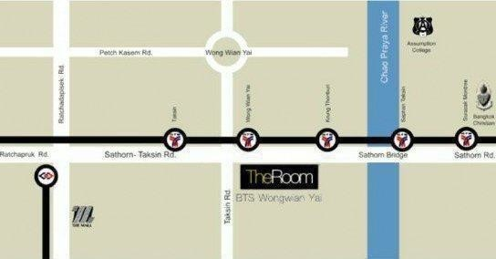 The Room BTS Wongwian Yai - For Sale 1 Bed コンド Near BTS Wong Wian Yai, Bangkok, Thailand | Ref. TH-KXFRHQNT