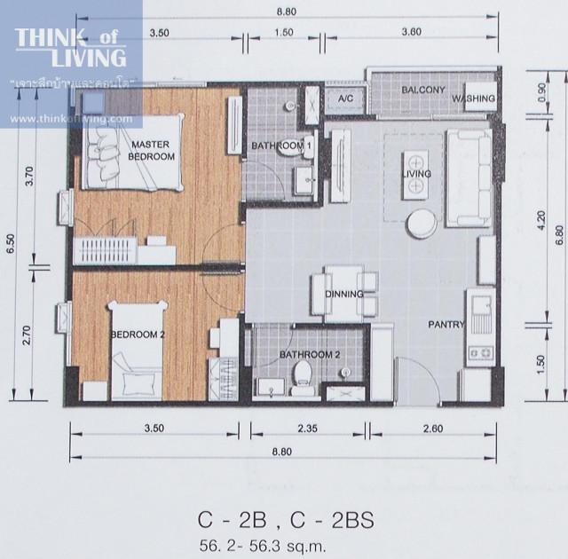 ขาย คอนโด 2 ห้องนอน บางละมุง ชลบุรี | Ref. TH-SSTVCAAE