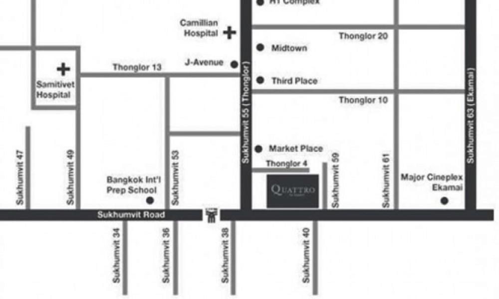 Quattro by Sansiri  - For Sale 2 Beds コンド Near BTS Thong Lo, Bangkok, Thailand | Ref. TH-YXESFXUL