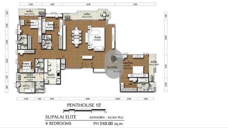 ศุภาลัย เอลีท สาทร-สวนพลู - ให้เช่า คอนโด 4 ห้องนอน สาทร กรุงเทพฯ | Ref. TH-EIOLLJRS
