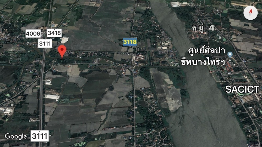 ขาย ที่ดิน 11-2-58 ไร่ บางไทร พระนครศรีอยุธยา   Ref. TH-RTIFHIRI