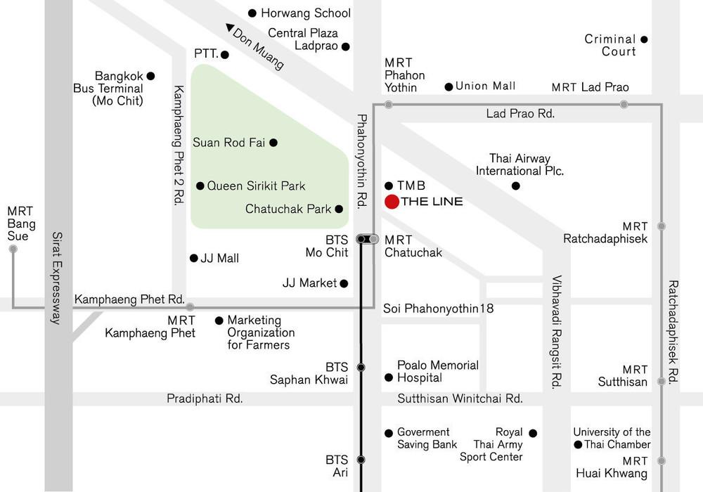 เดอะ ไลน์ จตุจักร-หมอชิต - ให้เช่า คอนโด 1 ห้องนอน ติด MRT สวนจตุจักร | Ref. TH-GRNBKUOW