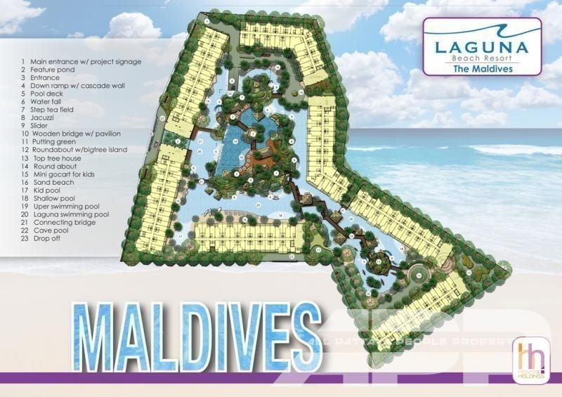 Laguna Beach Resort 3 - The Maldives - For Sale コンド 24 sqm in Bang Lamung, Chonburi, Thailand | Ref. TH-DSJHGLMT