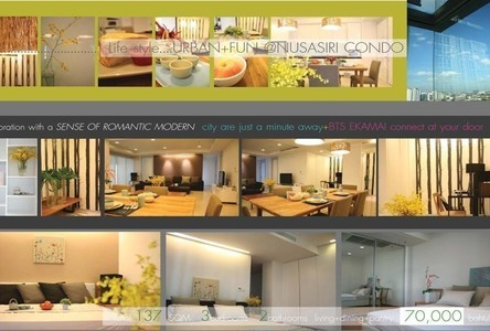 Продажа или аренда: Кондо с 3 спальнями возле станции BTS Ekkamai, Bangkok, Таиланд