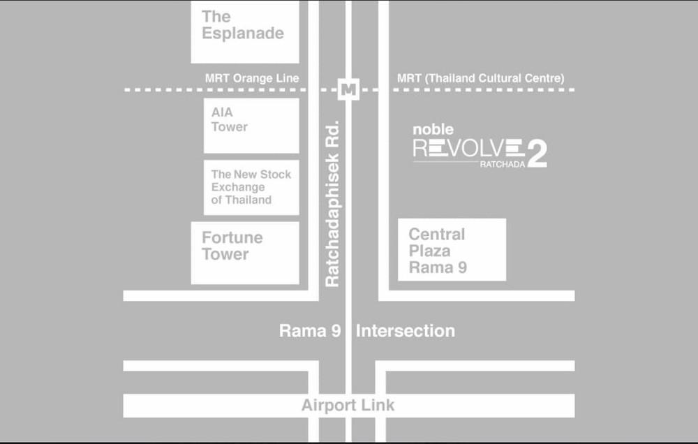 Noble Revolve Ratchada 2 - For Sale 1 Bed Condo Near MRT Thailand Cultural Centre, Bangkok, Thailand | Ref. TH-KWEXMECH