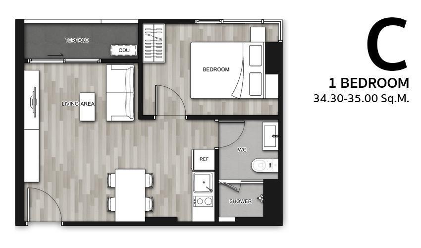 เอสเพน คอนโด ลาซาล - ให้เช่า คอนโด 1 ห้องนอน บางนา กรุงเทพฯ | Ref. TH-ZATAIKDC