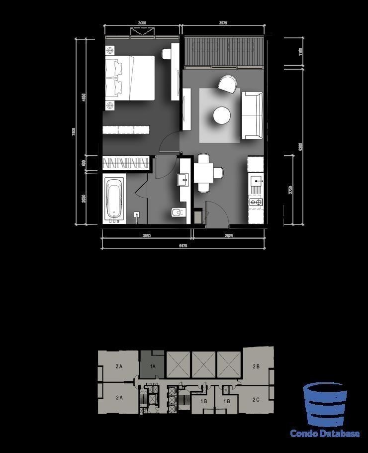 The Lofts Asoke - For Sale 1 Bed Condo Near MRT Phetchaburi, Bangkok, Thailand | Ref. TH-UFOIXNGG