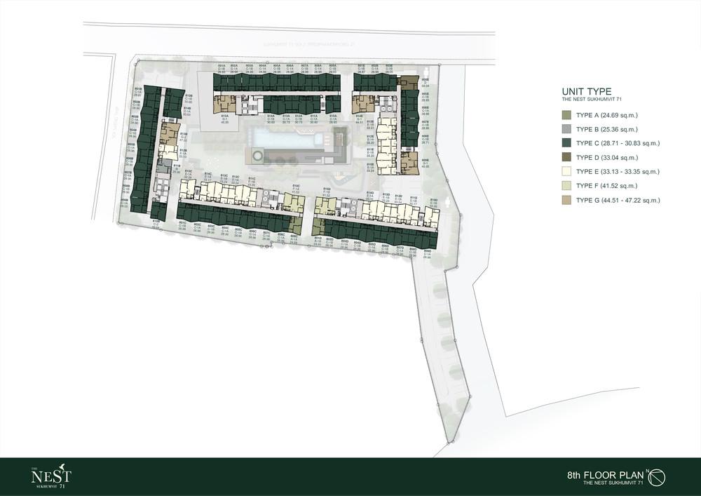 The Nest Sukhumvit 71 - For Sale 1 Bed Condo in Watthana, Bangkok, Thailand | Ref. TH-UVVJVTAE