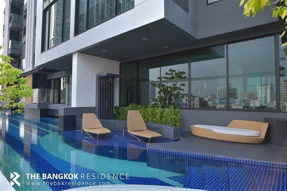 Condolette Midst Rama 9 - For Rent 1 Bed Condo Near MRT Phetchaburi, Bangkok, Thailand   Ref. TH-ZVPMLAYI