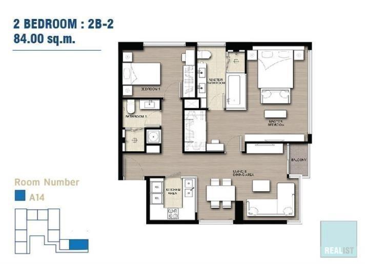 ดิ เอส อโศก - ขาย คอนโด 2 ห้องนอน ติด MRT สุขุมวิท   Ref. TH-QWGJLTYI