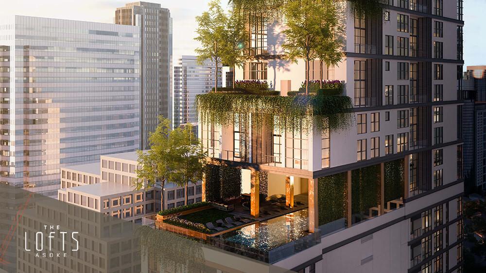 The Lofts Asoke - For Sale 2 Beds Condo Near MRT Phetchaburi, Bangkok, Thailand | Ref. TH-MBCNOAAN