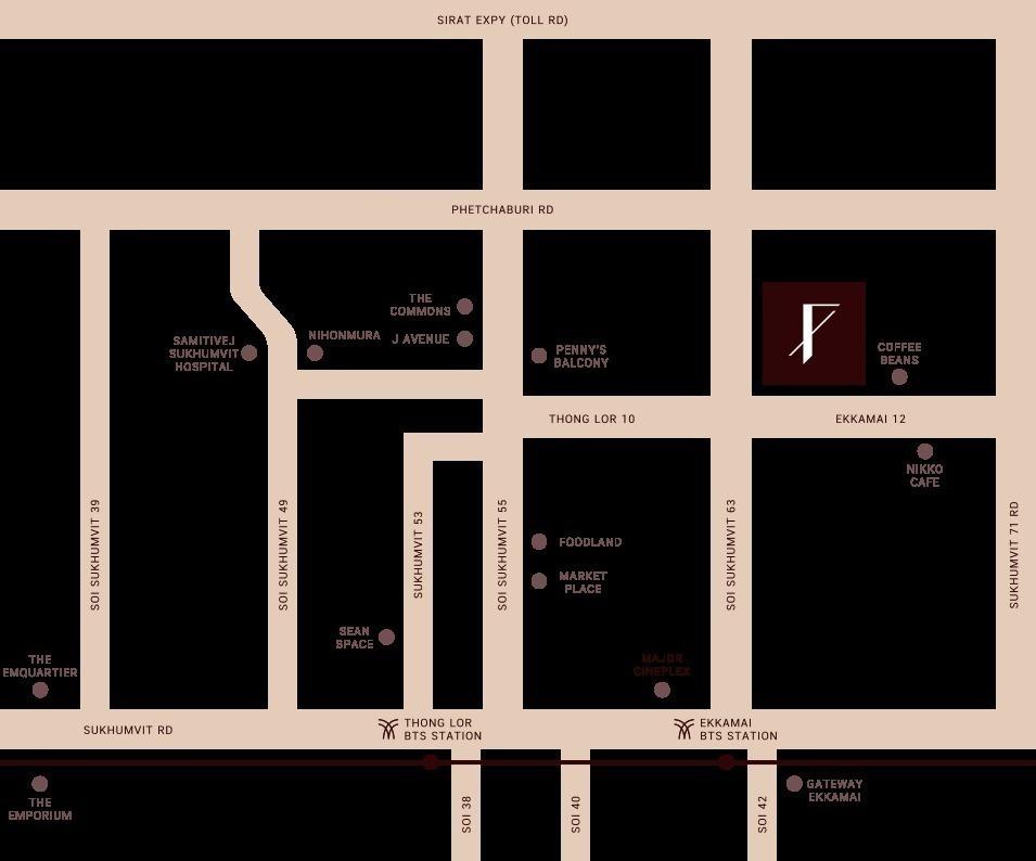The FINE Bangkok Thonglor - Ekamai - Продажа: Кондо с 2 спальнями в районе Watthana, Bangkok, Таиланд | Ref. TH-DDKOISOA