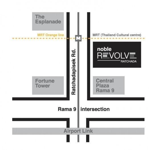 Noble Revolve Ratchada - For Sale 2 Beds Condo Near MRT Thailand Cultural Centre, Bangkok, Thailand | Ref. TH-KCSNJRGI