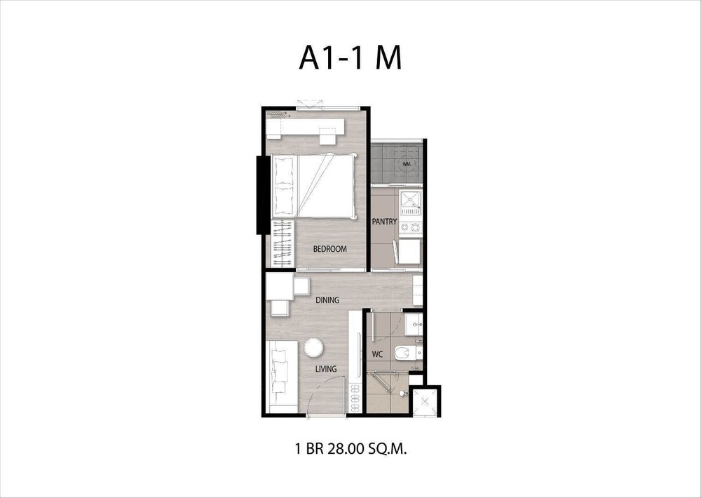 NICHE MONO Sukhumvit - Bearing - For Sale 1 Bed Condo Near BTS Bearing, Samut Prakan, Thailand | Ref. TH-OZINRCKS