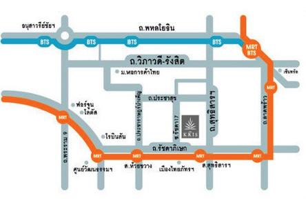 Продажа или аренда: Кондо 23.27 кв.м. в районе Din Daeng, Bangkok, Таиланд