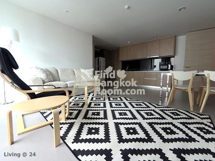 Living @ 24 - В аренду: Кондо с 2 спальнями возле станции BTS Phrom Phong, Bangkok, Таиланд | Ref. TH-SGPRKTSU