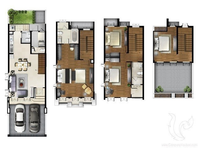 For Sale 3 Beds Townhouse in Khlong Toei, Bangkok, Thailand | Ref. TH-UUIBUELZ