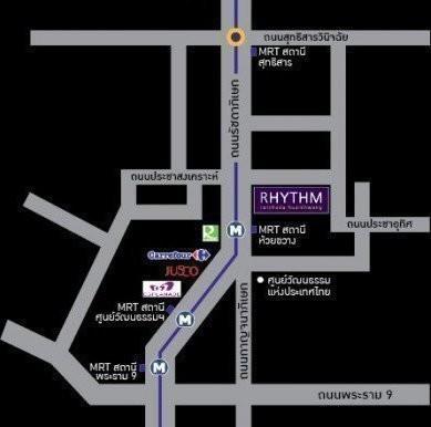 ริธึม รัชดา-ห้วยขวาง - ขาย หรือ เช่า คอนโด 1 ห้องนอน ติด MRT ห้วยขวาง | Ref. TH-GGCHXJHR