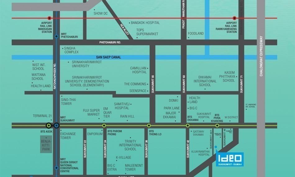 Ideo Sukhumvit – Rama 4 - Продажа: Кондо c 1 спальней возле станции BTS Phra Khanong, Bangkok, Таиланд | Ref. TH-LMDYZJNI