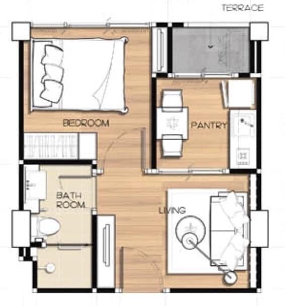 เอมเมอรัลด์ เรสซิเดนท์ รัชดา - ขาย คอนโด 1 ห้องนอน ดินแดง กรุงเทพฯ | Ref. TH-RIEKGNII