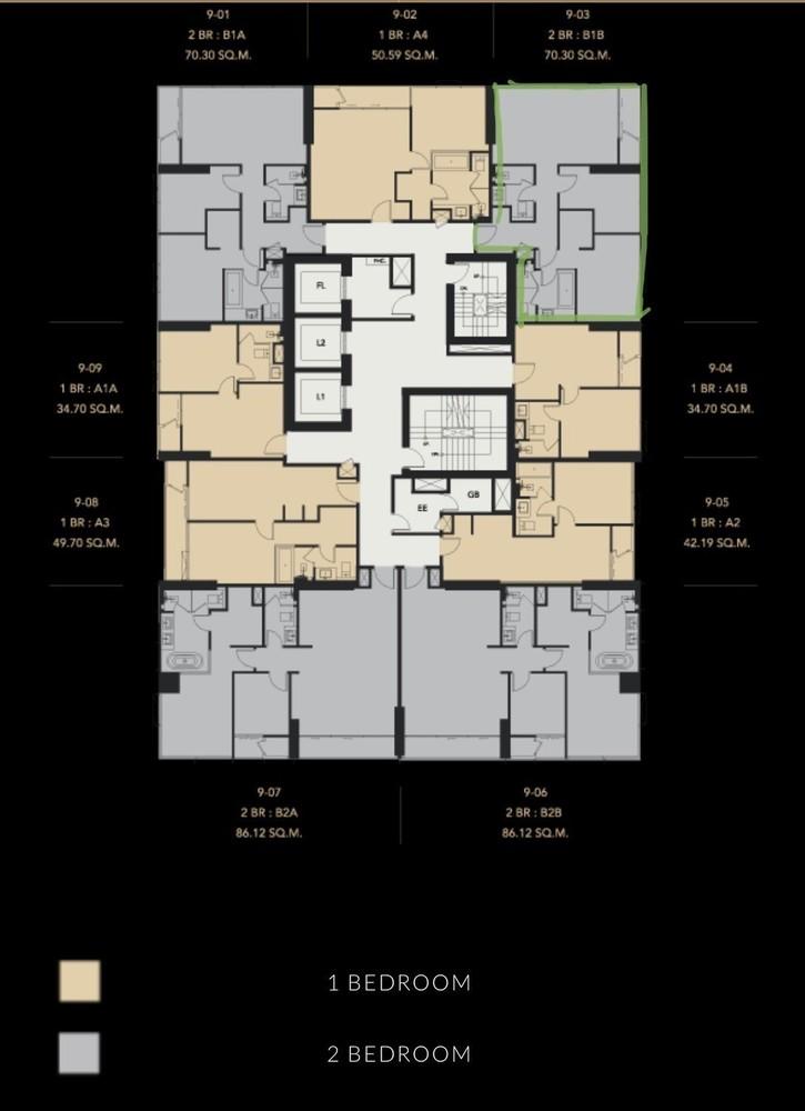 เซอเลส อโศก - ขาย คอนโด 2 ห้องนอน ติด MRT สุขุมวิท   Ref. TH-UZWGCWJF