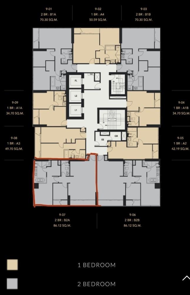 เซอเลส อโศก - ขาย คอนโด 2 ห้องนอน ติด MRT สุขุมวิท | Ref. TH-XUEMGUXK
