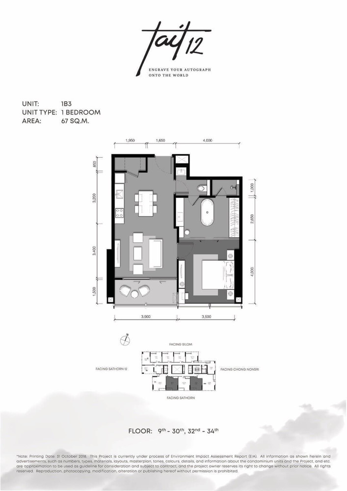 Tait 12 - Продажа: Кондо c 1 спальней возле станции BTS Chong Nonsi, Bangkok, Таиланд | Ref. TH-GZGQPEGH