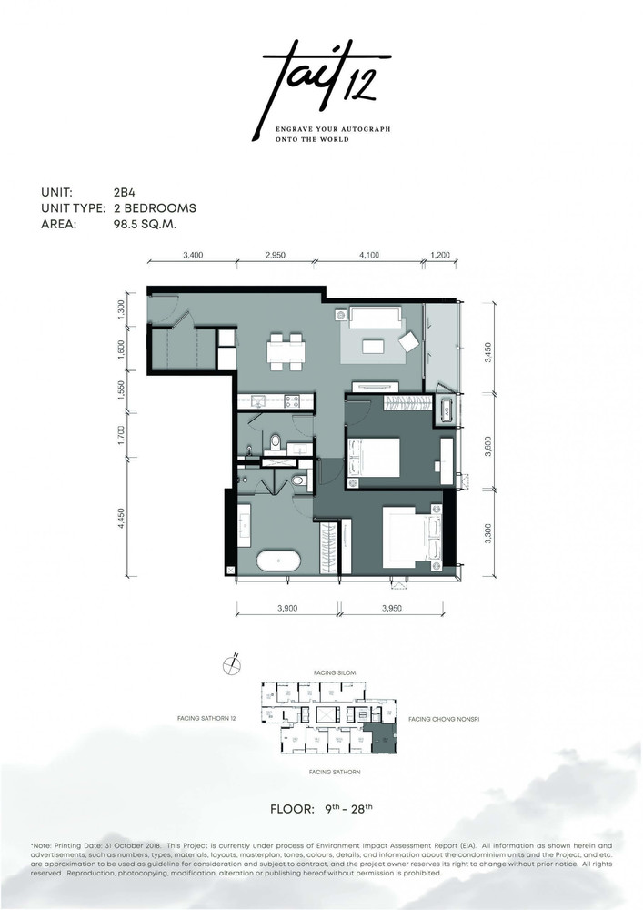 Tait 12 - Продажа: Кондо с 2 спальнями возле станции BTS Chong Nonsi, Bangkok, Таиланд | Ref. TH-XDPDEZSC