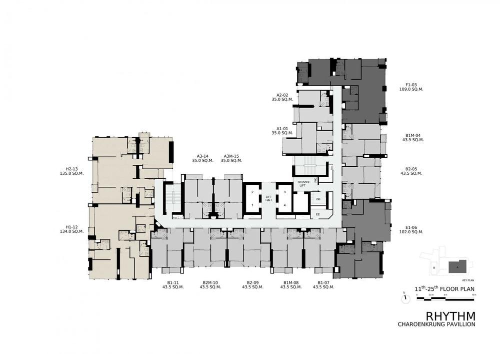 ริทึ่ม เจริญกรุง พาวิลเลี่ยน - ขาย คอนโด 3 ห้องนอน บางคอแหลม กรุงเทพฯ | Ref. TH-QDZQBORR