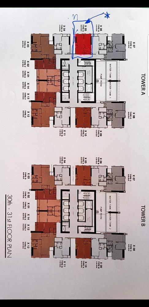 One 9 Five Asoke - Rama 9 - For Sale 1 Bed Condo Near MRT Phraram Kao 9, Bangkok, Thailand | Ref. TH-MLVIRQGK