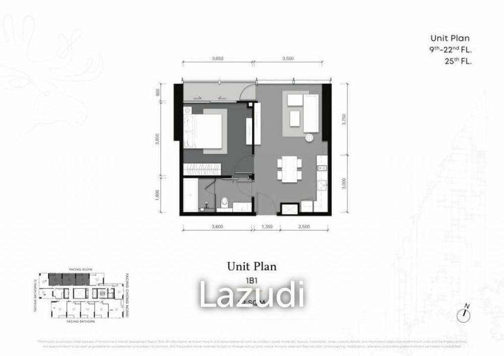 Tait 12 - Продажа: Кондо c 1 спальней возле станции BTS Chong Nonsi, Bangkok, Таиланд | Ref. TH-VOEZVEMU