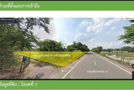 For Sale Land in Nong Suea, Pathum Thani, Thailand