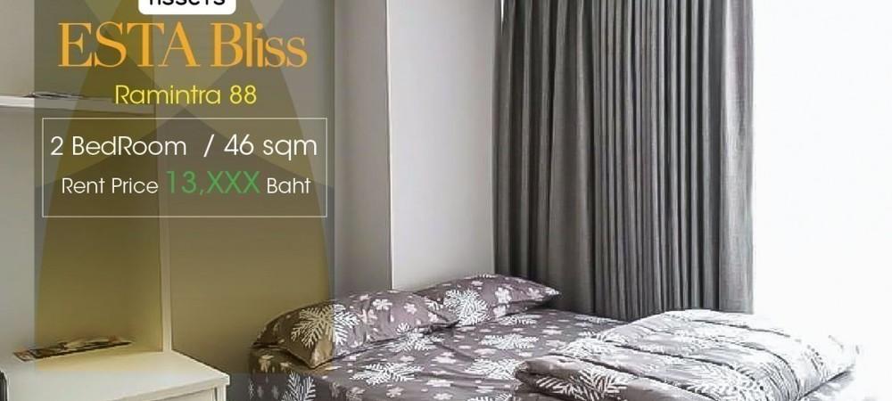 Esta Bliss - For Rent 2 Beds Condo in Min Buri, Bangkok, Thailand | Ref. TH-CUQVNYYM