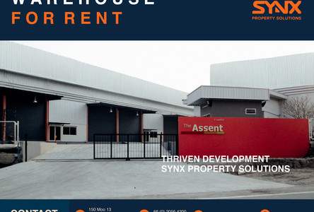For Rent Warehouse 450 sqm in Si Racha, Chonburi, Thailand