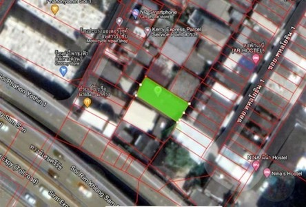 For Sale Land 188 sqm in Phaya Thai, Bangkok, Thailand