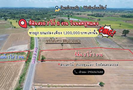 For Sale Land 8-2-0 rai in Chum Saeng, Nakhon Sawan, Thailand