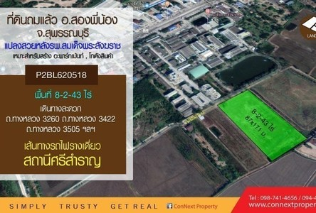 For Sale Land 13,772 sqm in Song Phi Nong, Suphan Buri, Thailand