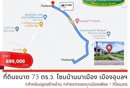 For Sale Land 292 sqm in Mueang Ubon Ratchathani, Ubon Ratchathani, Thailand